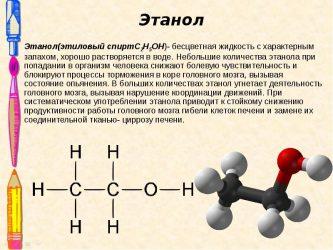 К какому классу относится этанол?